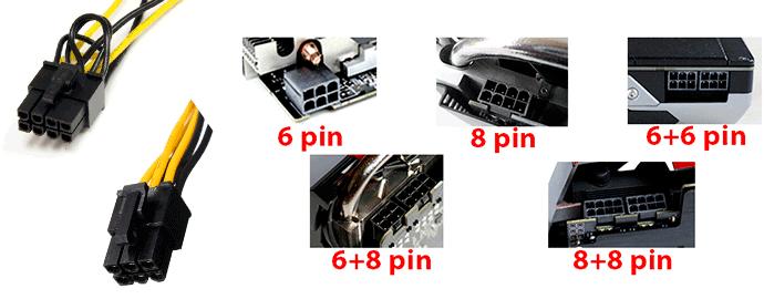 cavi pin scheda video