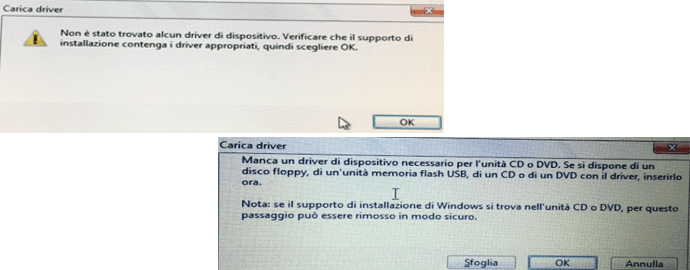 carica driver windows