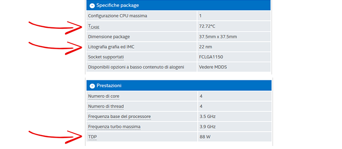 temperatura processore