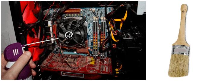 rimuovere polvere computer