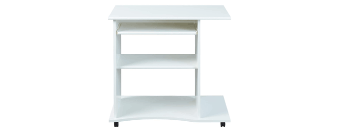 scrivania pc bianca