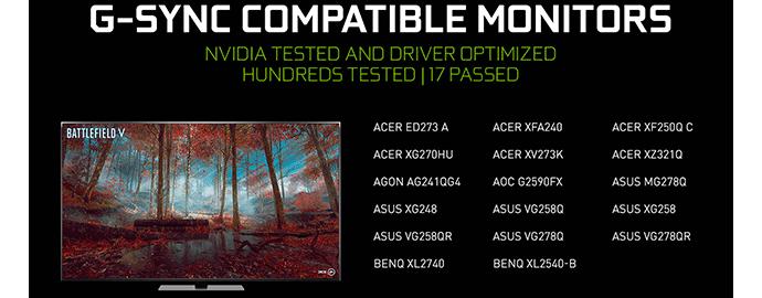 monitor compatibili gsync