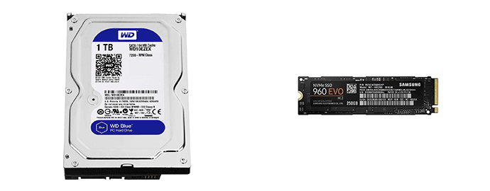 hdd ssd nvme