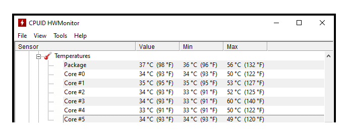 software monitorare temperature