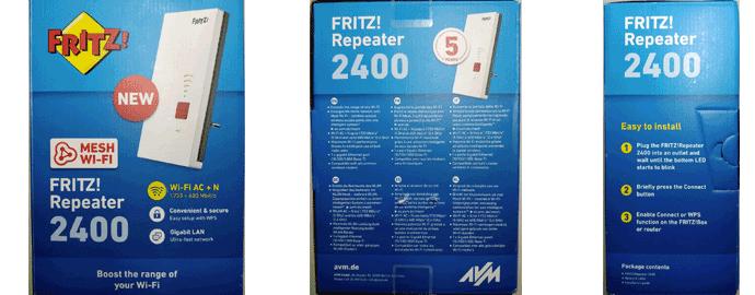 confezione AVM FRITZ!Repeater 2400