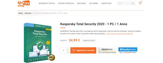 kaspersky licenza