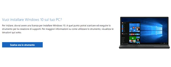 scarica aggiornamento windows