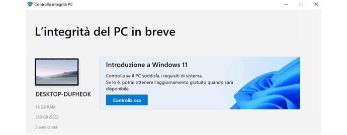 requisiti minimi windows